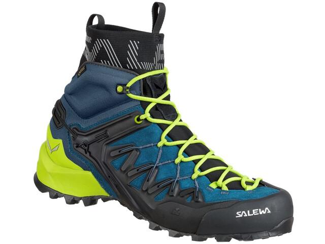 SALEWA Wildfire Edge GTX Mid Shoes Herre poseidon/cactus